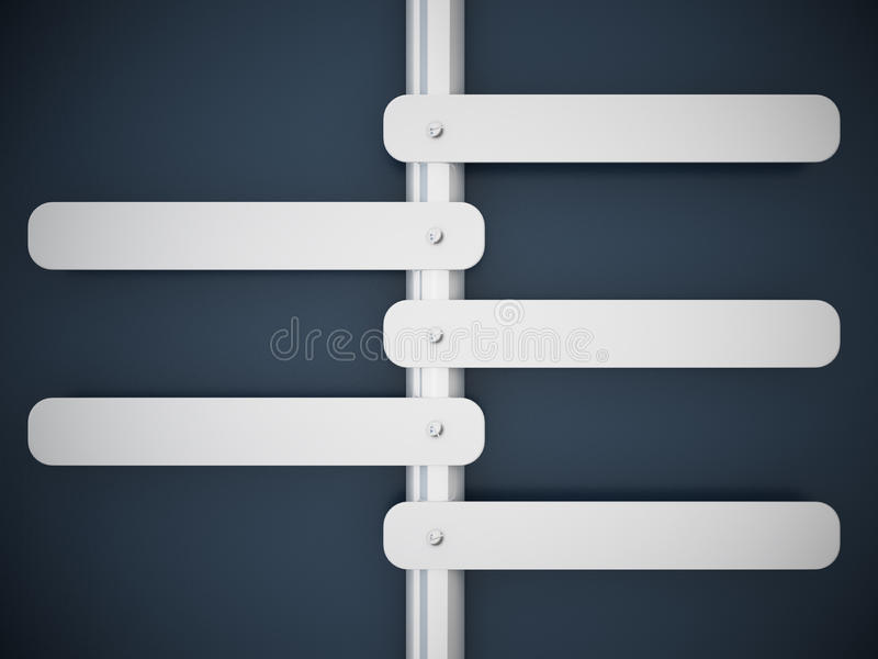 Download 3d Rendering Signboard And Blue Wall Stock Illustration - Image: 24787434