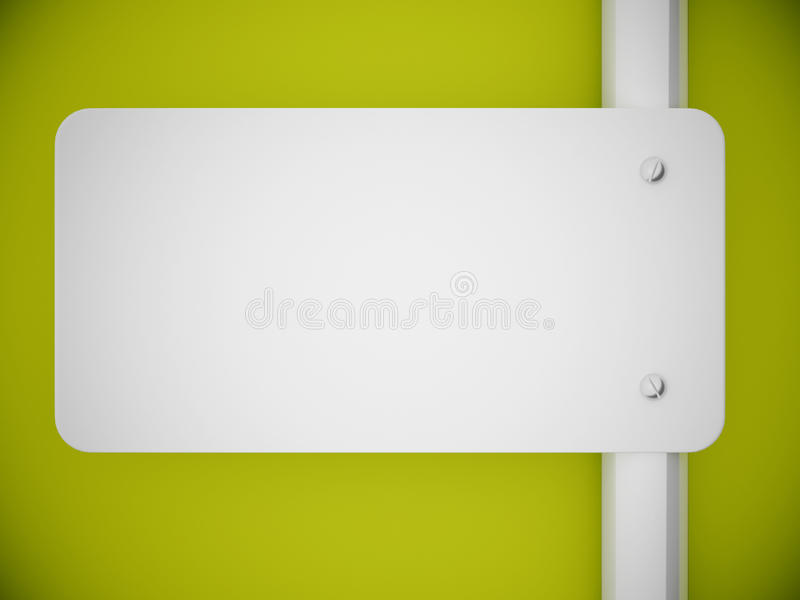 Download 3d Rendering Signboard And Green Wall Stock Illustration - Image: 24788916