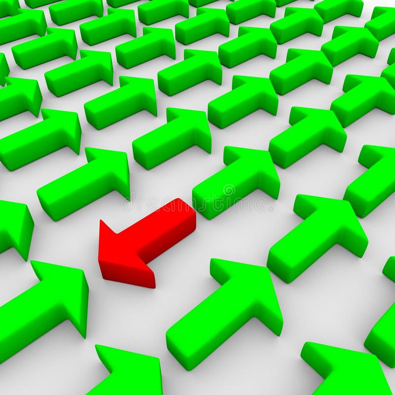 Download 3d Rendering Of Some Green And A Red Arrow Stock Image - Image: 14862697