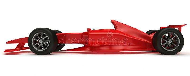 3D rendeu o carro de fórmula do conceito ilustração stock