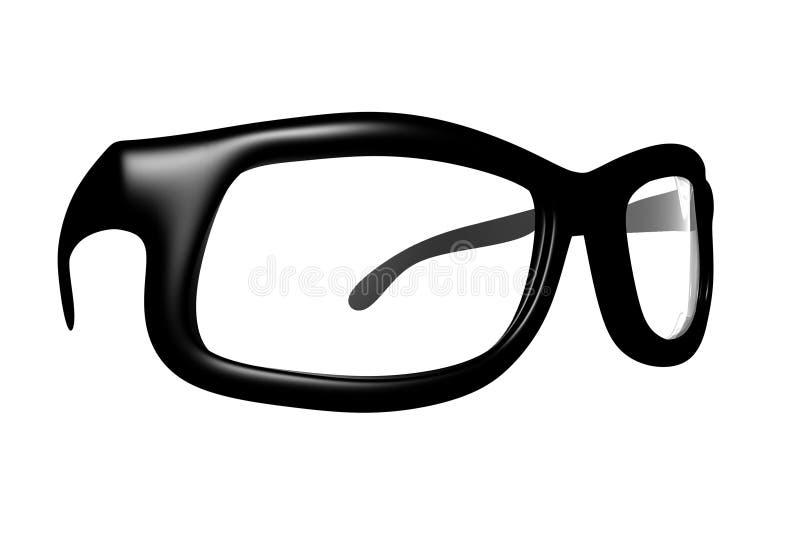 3D rendono dei vetri fotografie stock