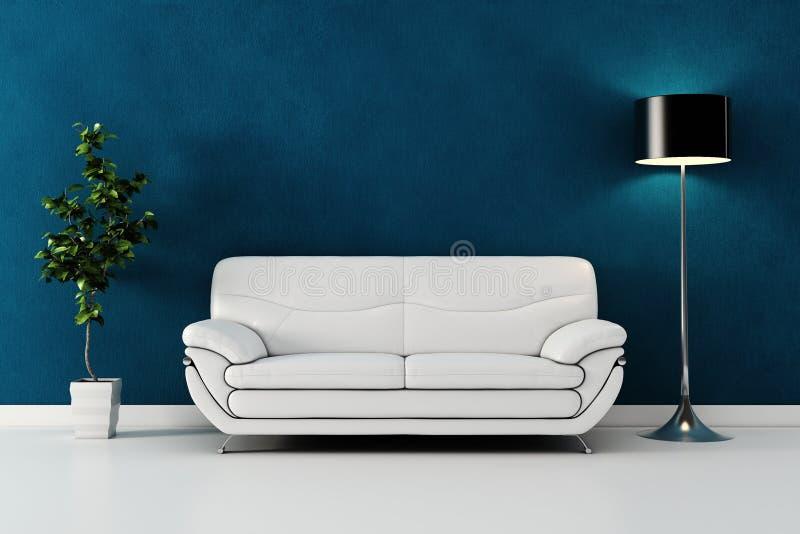 3d rendono di un disegno interno moderno. illustrazione vettoriale