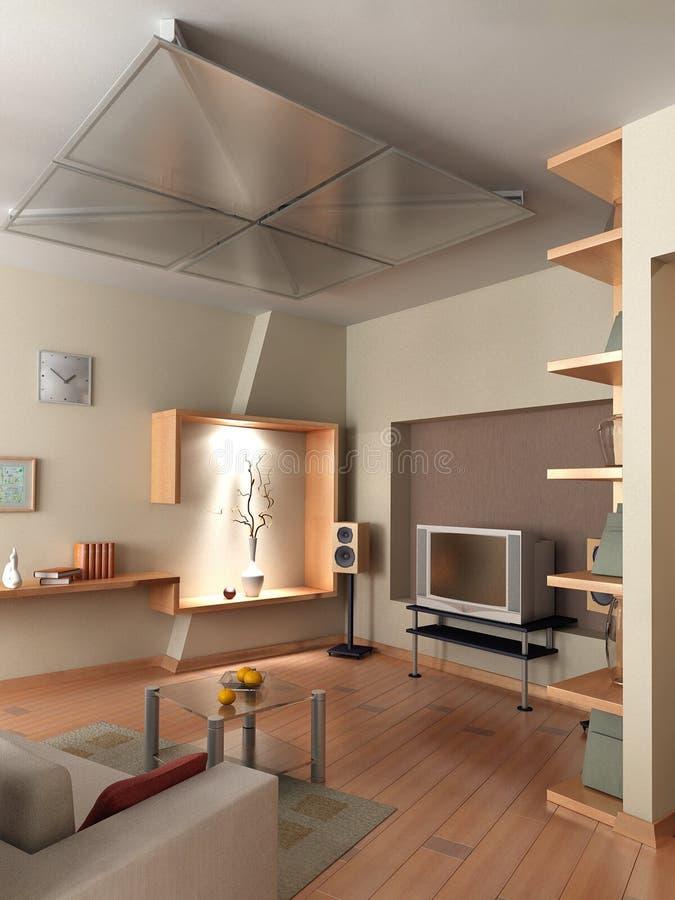 3D rendono l'interiore illustrazione vettoriale
