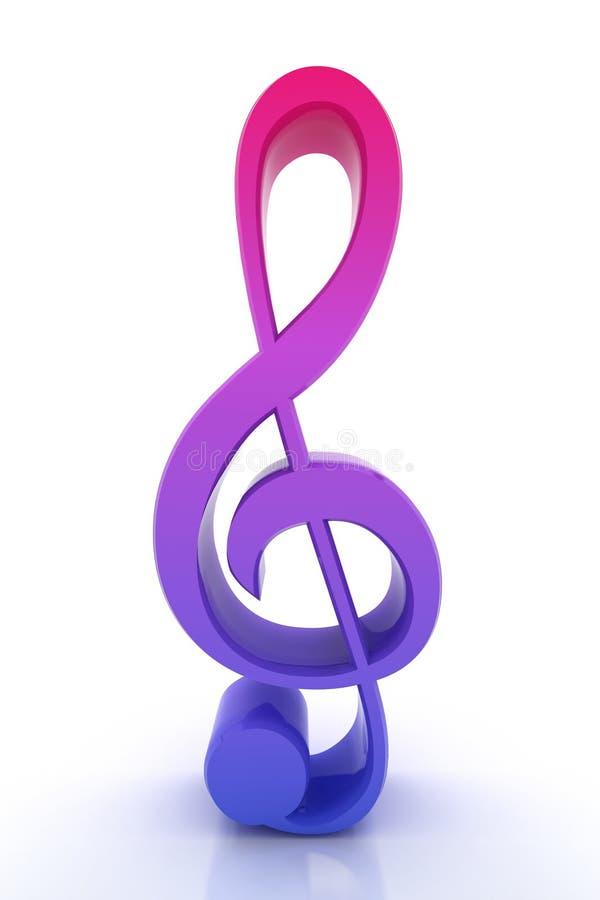 3d rendono la nota musicale fotografia stock