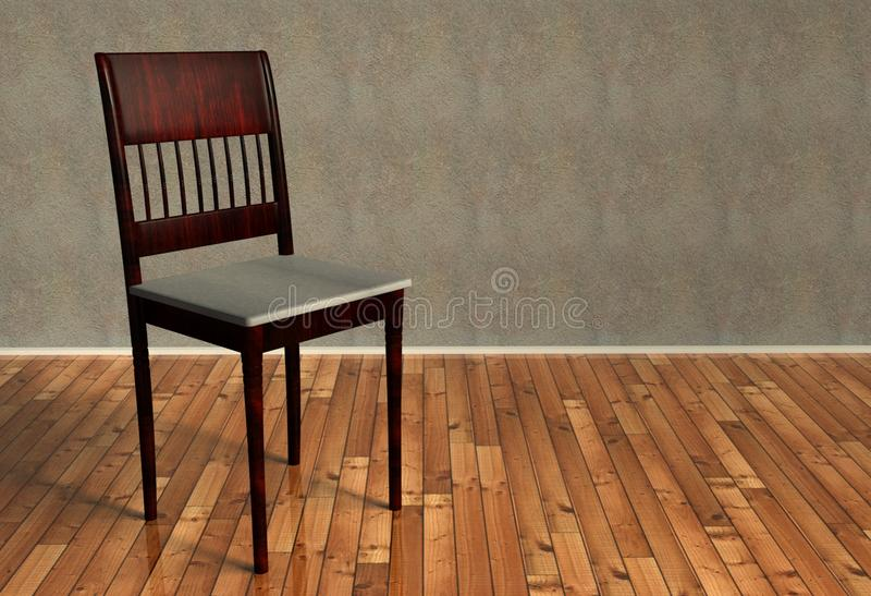 Download 3d Renovated Retro Chair On Wooden Floor Royalty Free Stock Photos - Image: 22385348