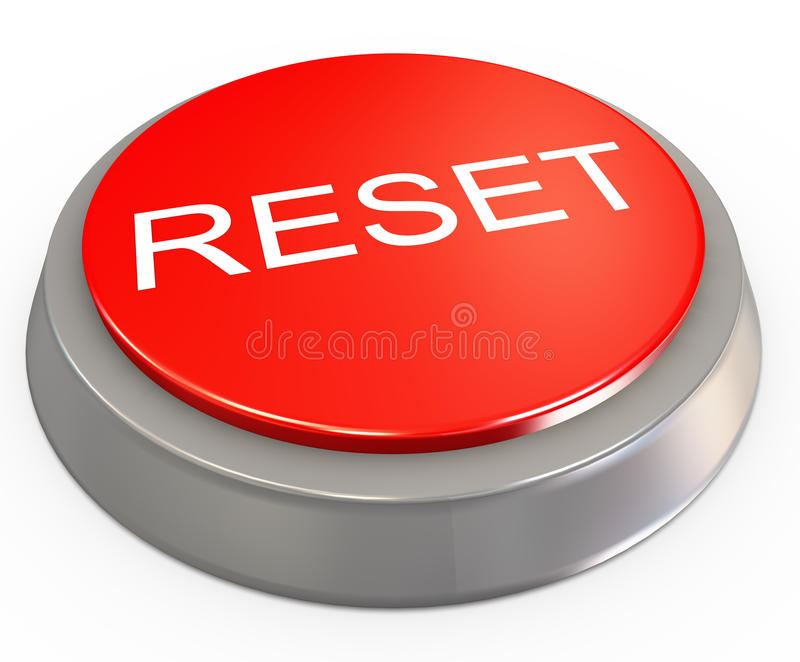 3d reset button stock illustration. Illustration of modern - 22085665