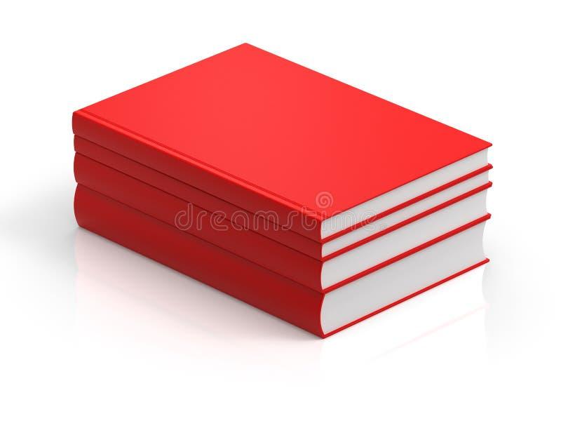 3d rezerwuje czerwonego rendering ilustracji