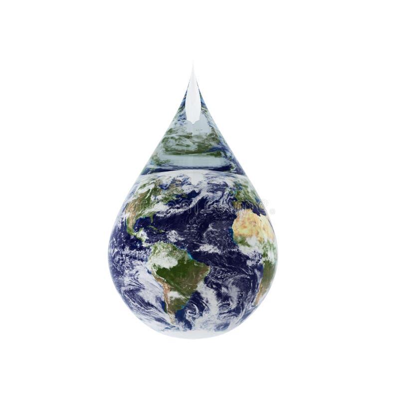 3d rinden de gota del agua stock de ilustración