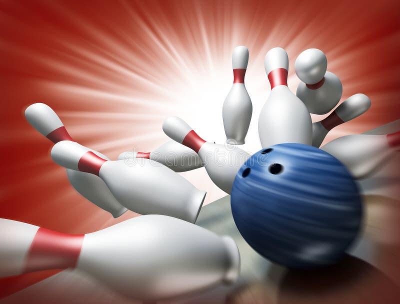 3d rinden de un bowling ilustración del vector