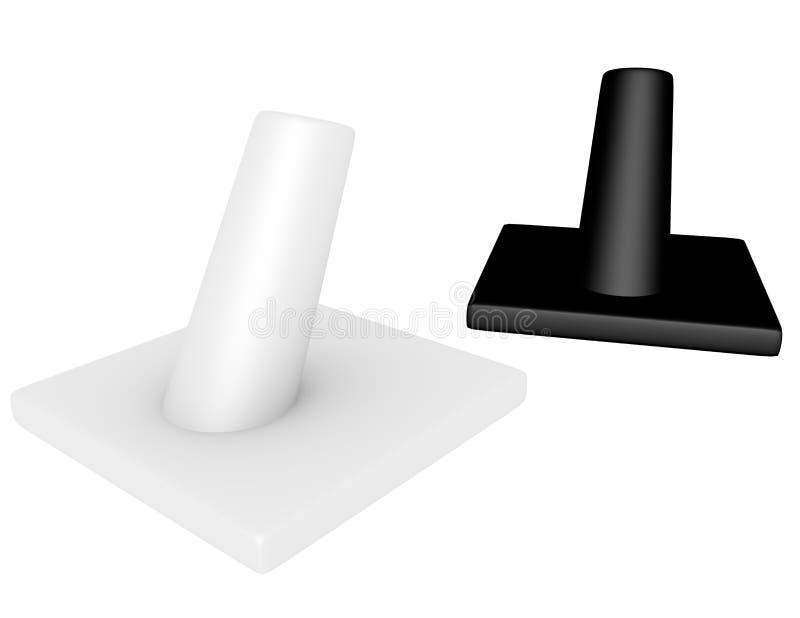 3d rinden de un par de soportes del anillo libre illustration