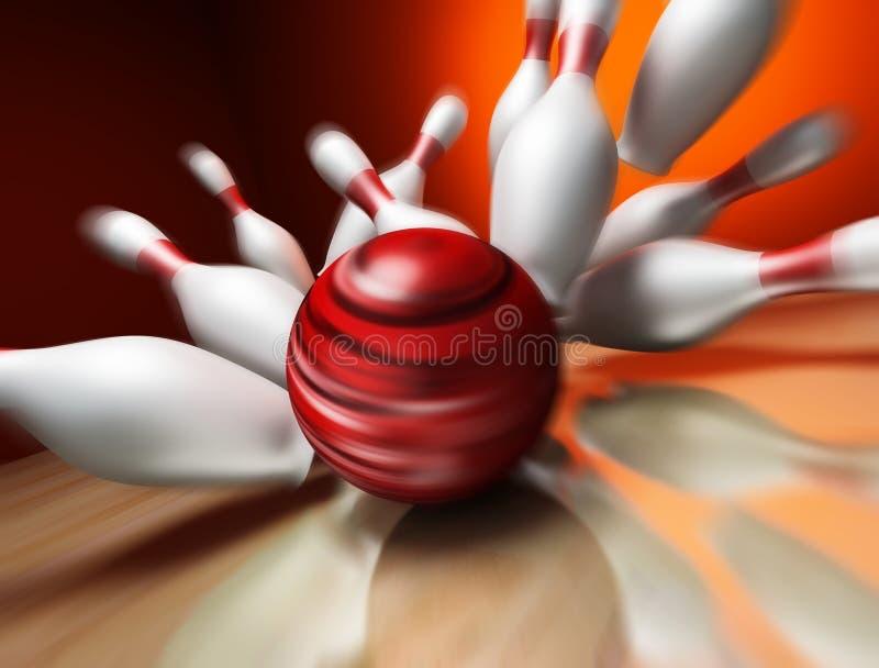 3d rinden de una bola de bowling ilustración del vector