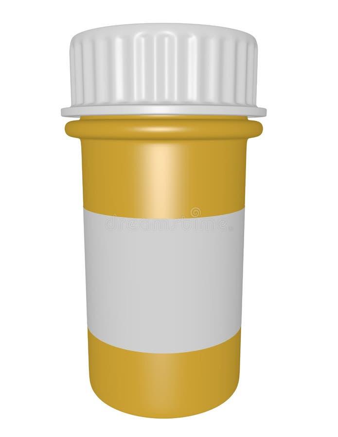 3d rinden de una botella de píldora libre illustration