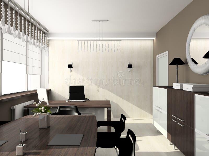 3D rinden el interior moderno de la oficina libre illustration