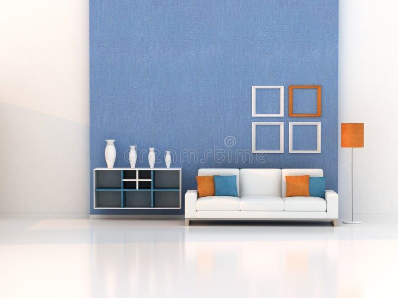 3d rinden la sala de estar, sitio moderno ilustración del vector