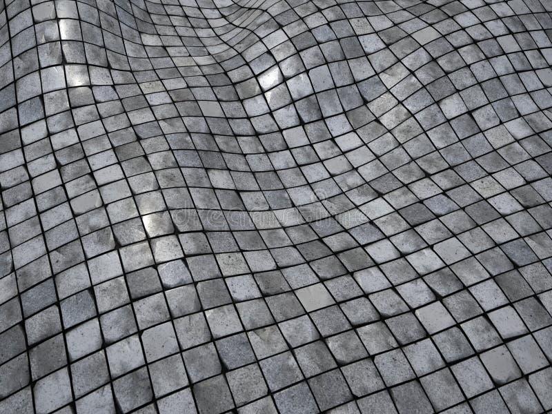 3d rinden la superficie de la pared del suelo de azulejo de mosaico del giro excéntrico libre illustration