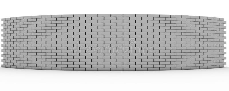 3D rindió la pared stock de ilustración