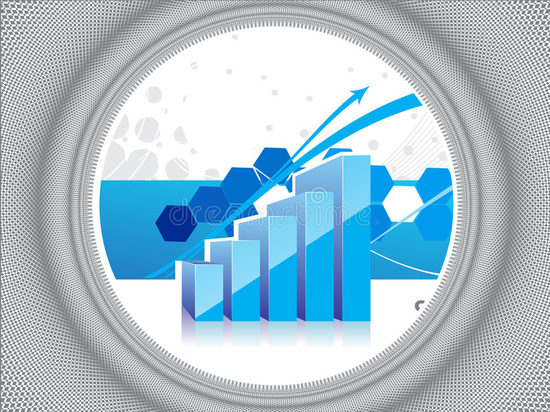 Download 3d ring graph stock vector. Image of diagram, fund, chart - 9100367