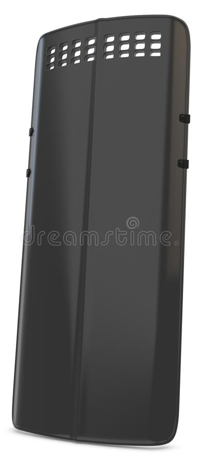3d riot police shield. On white background stock illustration