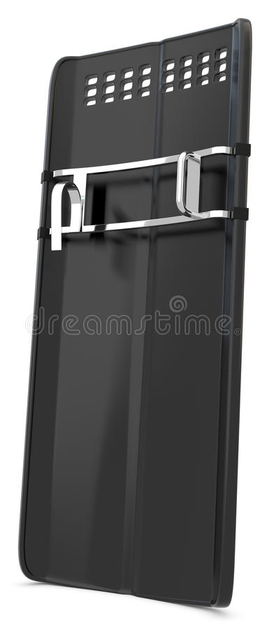 3d riot police shield. On white background vector illustration