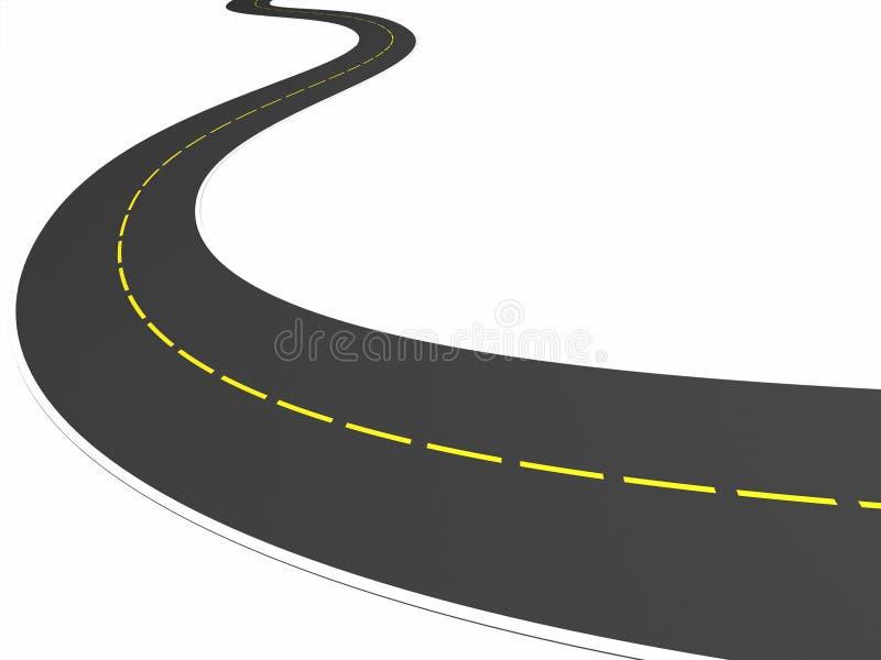 3d road stock illustration