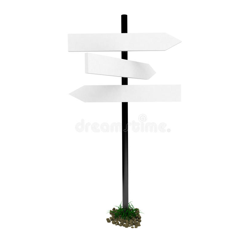 3d road sign isolated on white. 3d road sign isolated on white background vector illustration