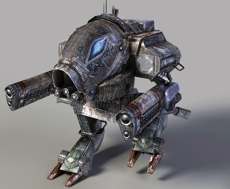 3d robot ilustracji