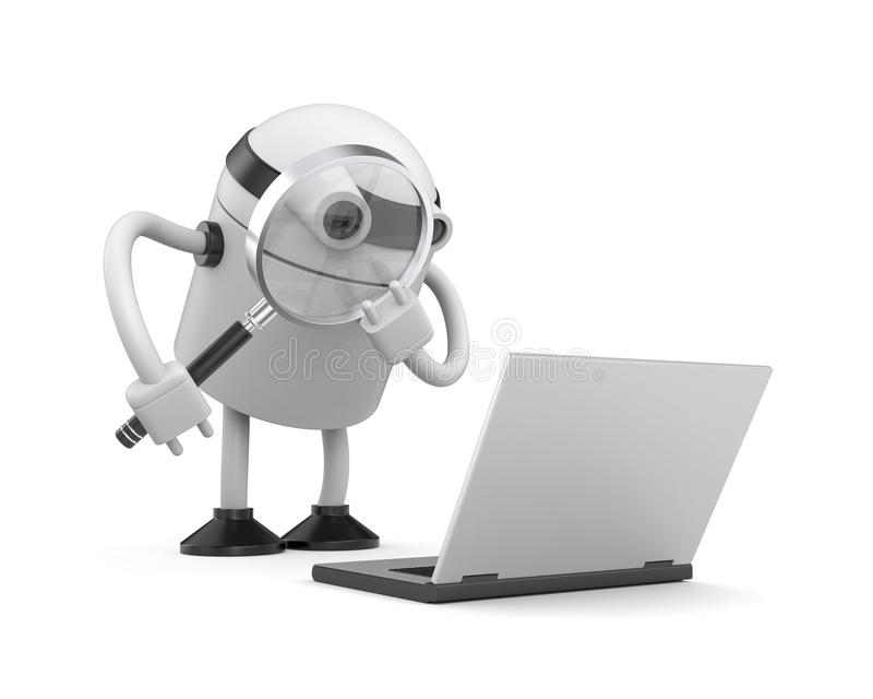 3d robot. Advanced service stock illustration