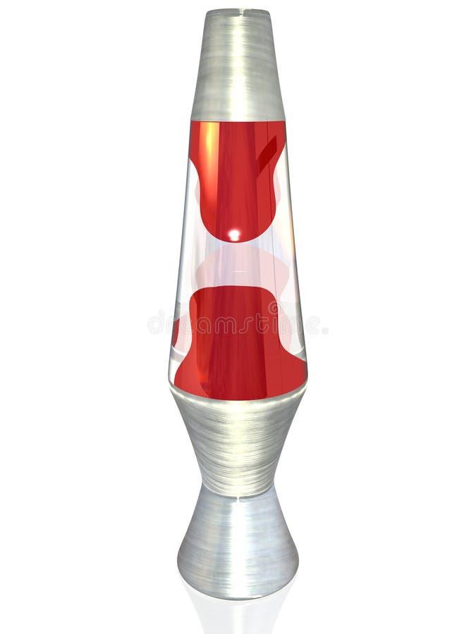 3D Rode Lamp van de Lava royalty-vrije illustratie
