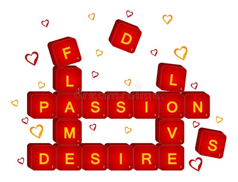 3D rode liefde graait vector illustratie