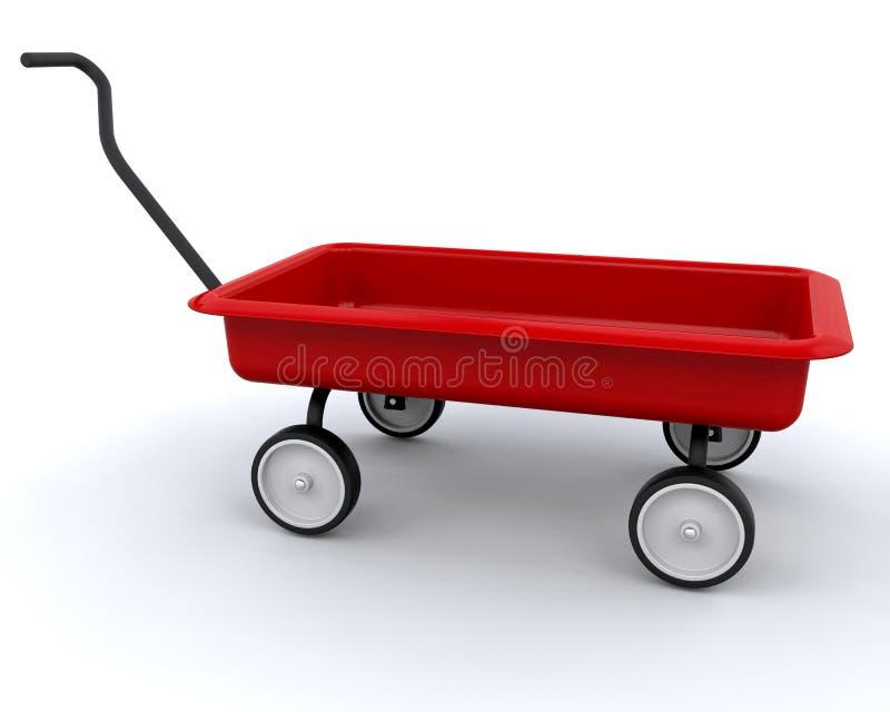 3D Rode wagen vector illustratie