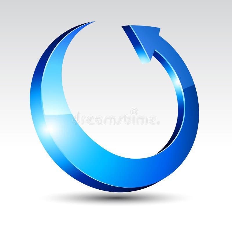 Free 3d Round Arrow. Royalty Free Stock Image - 13835406