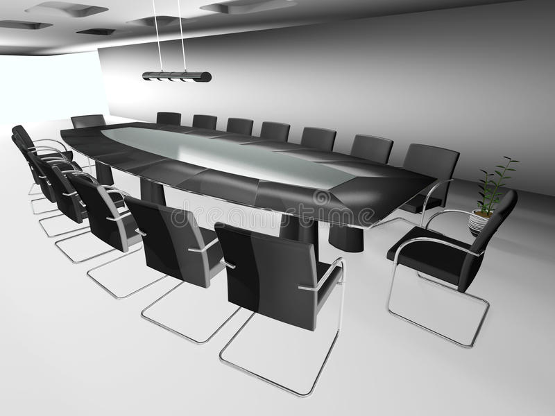 Download 3d round conference room stock illustration. Image of call - 23608012