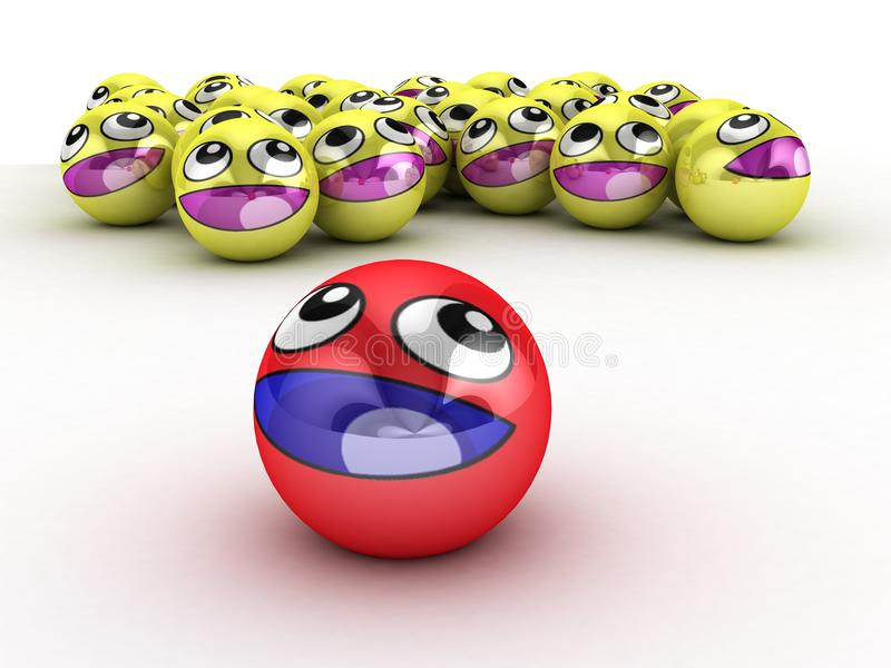 3D Round Smiley Faces. royalty free stock image