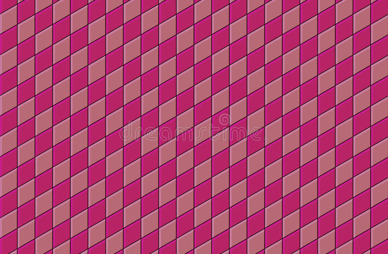 3d roze betegelde patroon van de muurvloer stock illustratie