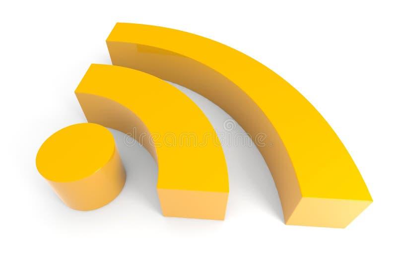 3d rss symbol ilustracja wektor