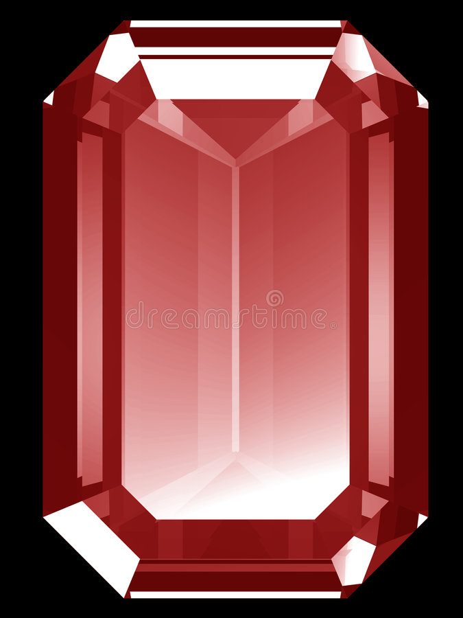3d Ruby stock illustration
