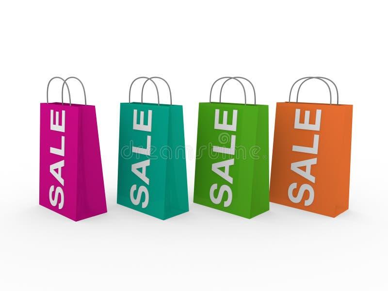 Download 3d sale bag colorful stock illustration. Image of illustration - 19592446