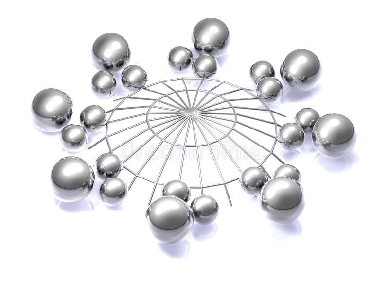 3D Samenvatting van het netwerk - vector illustratie