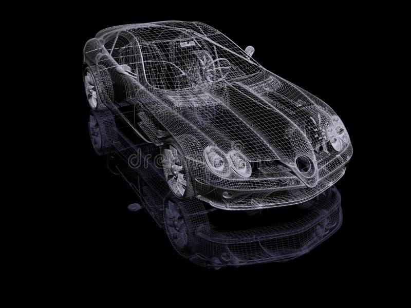 3d samochód ilustracja wektor