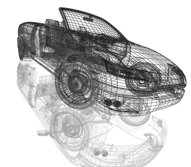 3d samochodu model royalty ilustracja