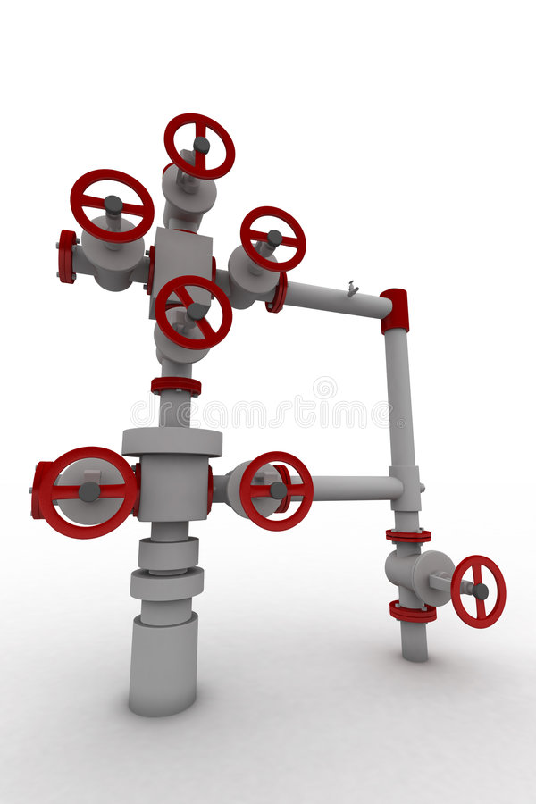 3D Sanitary Engineering Stock Images