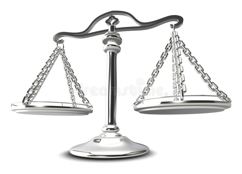 (3d) Scales of justice stock photography