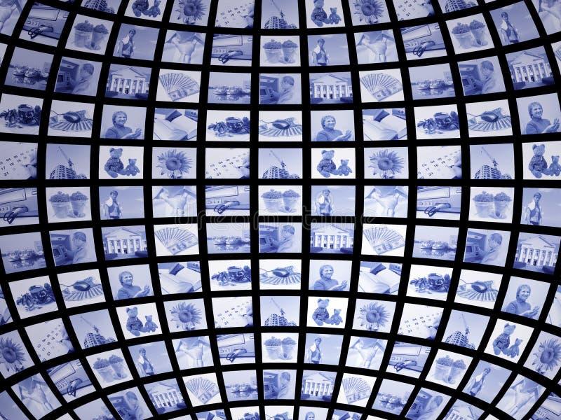 3d scherm royalty-vrije illustratie