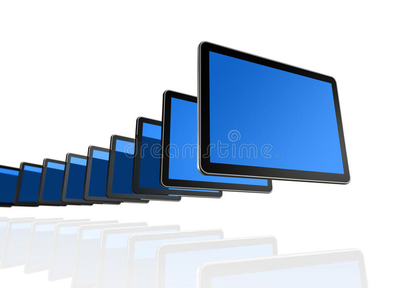 3d screens tv:n stock illustrationer