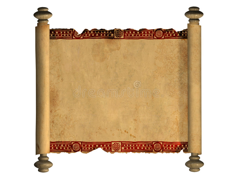 3d scroll of old parchment royalty free illustration