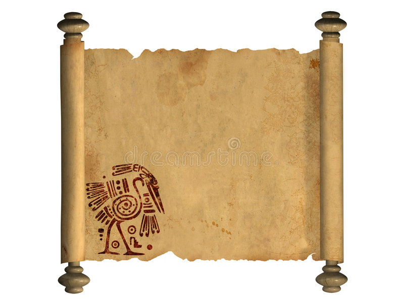 Download 3d scroll of old parchment stock illustration. Image of antique - 8963891