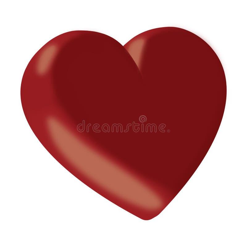 3d serce czerwień ilustracji