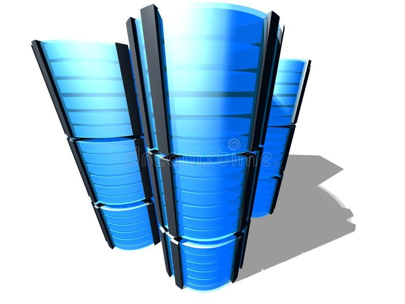 3D server farm vector illustration