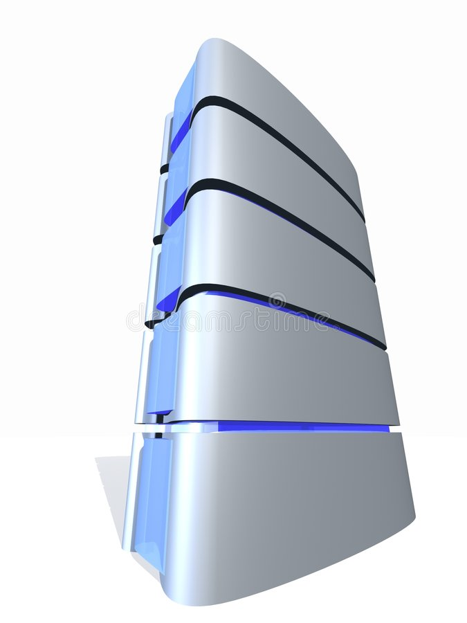 3D server tower royalty free illustration