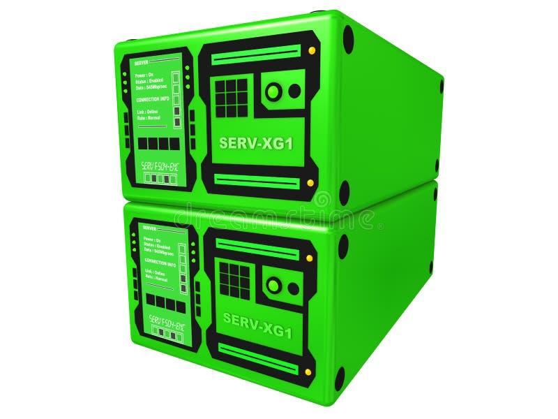Download 3d server verde #2 illustrazione di stock. Illustrazione di internet - 200135